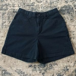 Lee Casuals Classic Black High-Waisted Shorts